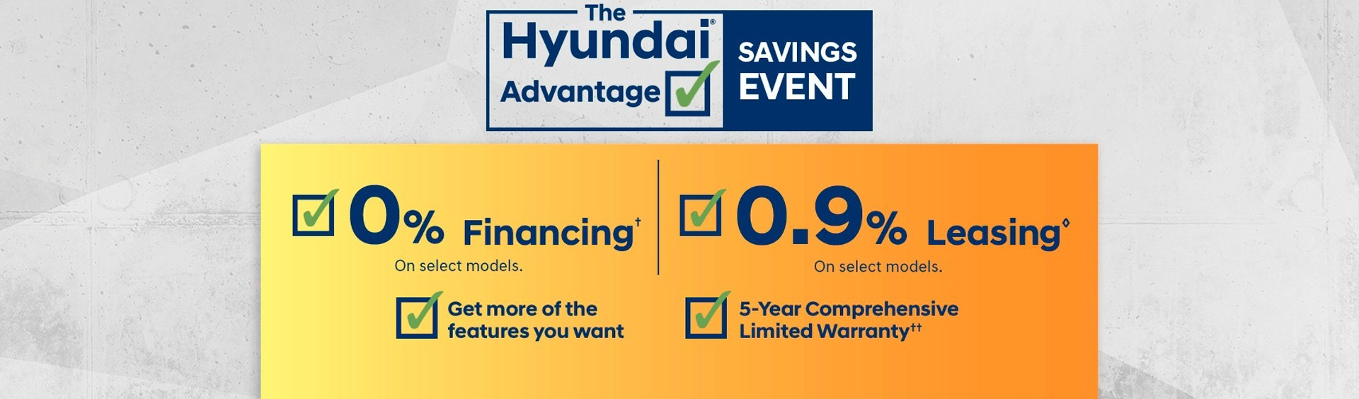 Hyundai Advantage Saving Event