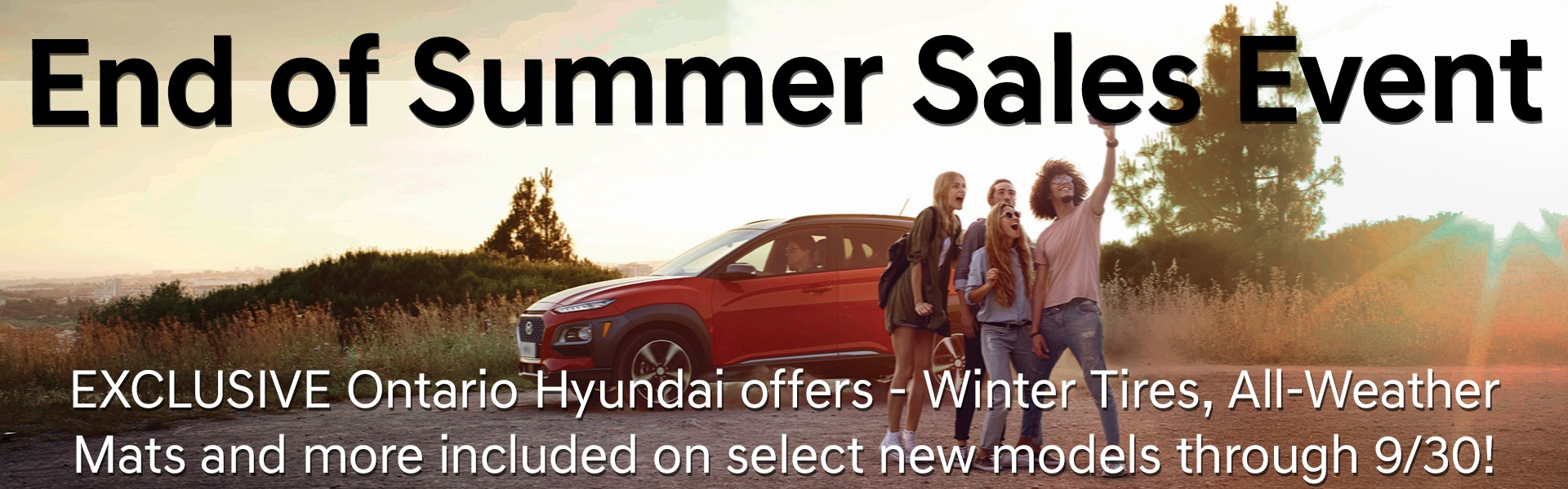 End of Summer Sales Event